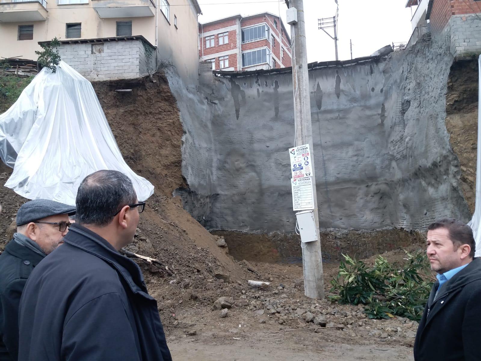 Giresun'da Heyelan Riski Altında Bulunan Binalar Tedbir Amaçlı Boşaltıldı